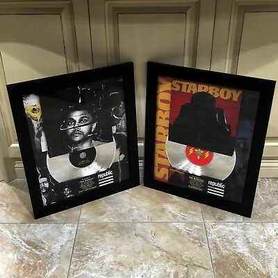 2 VERY RARE! The Weeknd Platinum Record Disc Album Music Award RIAA MTV Grammy