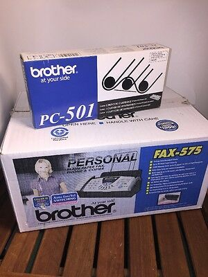 Brother #575 Personal Plain Paper Fax Phone & Copier +Ink Cartridge New