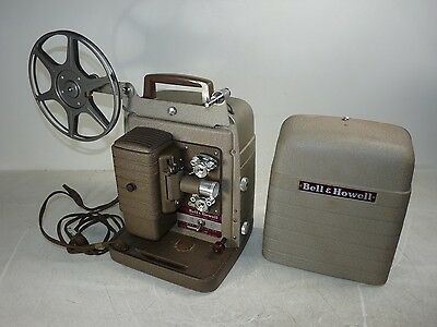 Vintage Bell & Howell 8mm Model 253-A Home Movie Projector Power Tested AS-IS
