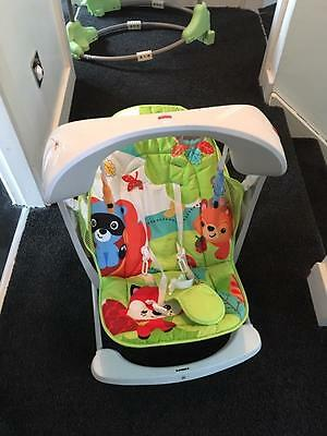 Ex Con Fisher Price Electronic Woodland Friends Baby Swing