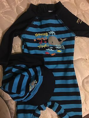 Baby Swimsuit And Hat 3-6 Months