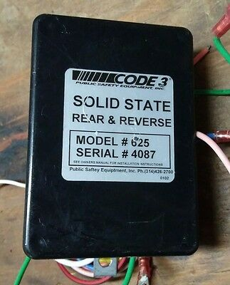 Used Code 3 Solid State Reverse & Taillight Flasher