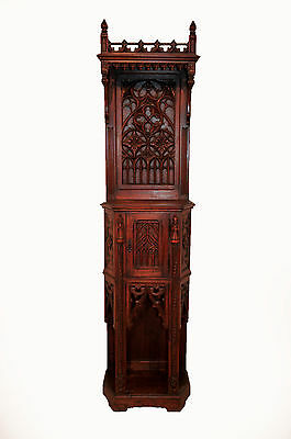 Superb Antique French Gothic Cabinet, Nice Narrow Model