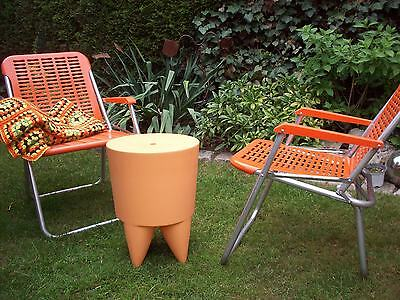 Philippe Starck for XO BUBU Hocker Tisch Tonne Container apricot made in France