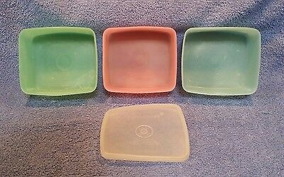 Lot Of 4 Vintage 1967 Tupperware: 3 Containers, 1 Lid