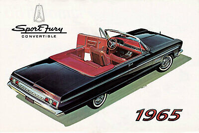 1965 Plymouth Sport Fury Convertible, Black, Refrigerator Magnet, 40 MIL