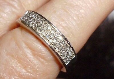 Diamond Band Ring - 0.5 carat - Sterling Silver - Size 7