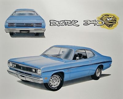 1970 Plymouth Duster 340, Refrigerator Magnet, 40 MIL