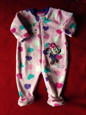 Minor Mouse Baby Girl SleepSuit Age 0-3 Months