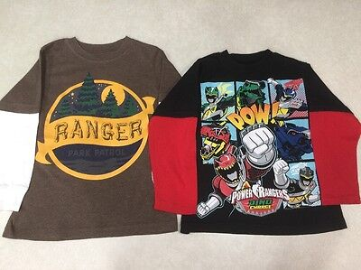 """Toddler Boy's """"Lot of 2""""  Long-Sleeved Novelty Shirts~~Size 4"""