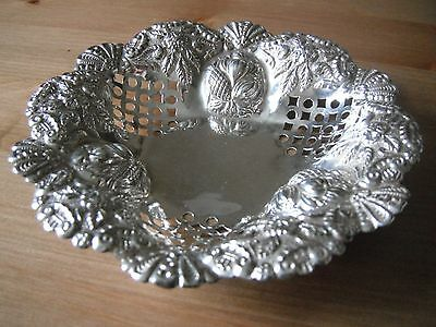 Charles Horner pierced and repousse silver dish, Birmingham 1899