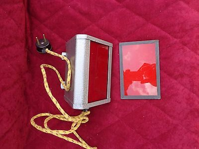 Red Light Lamp Photo Darkroom Leningrad with Bulb Vintage 1974 Soviet USSR