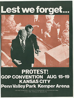 Protest poster from the GOP convention in 1976