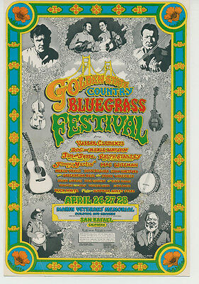 Golden State Country Bluegrass Festival mini-poster from 1974