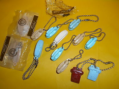 Lot Of 13 Vintage Key Chain Phones, Bell, Princess, Trimline, Old Ones,telephone