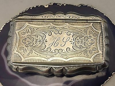 STUNNING Large French c1880 Sterling Silver Guilloche Case/Tobacco/Pillbox -L658