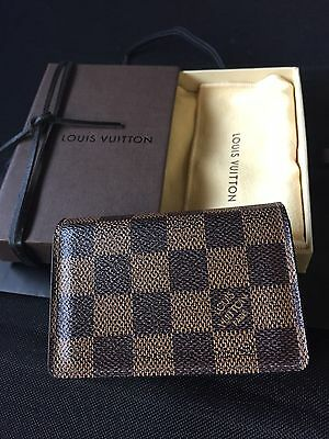 100% Authentic Louis Vuitton(CA2079) Damier Business & Credit Card Case