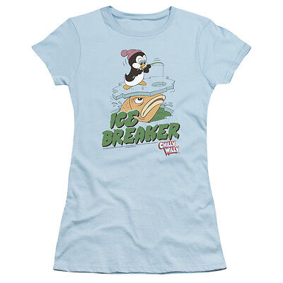 Chilly Willy Cartoon Penguin CHILLAX Licensed Adult T-Shirt All Sizes
