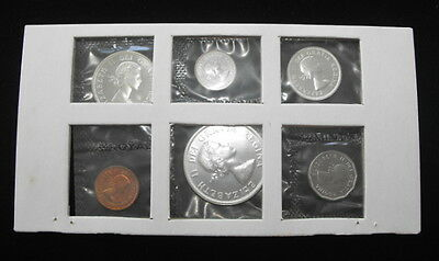 1961 Canada Royal Canadian Mint 6 Coin UNC Proof Like Mint Set Sealed - Low Mint