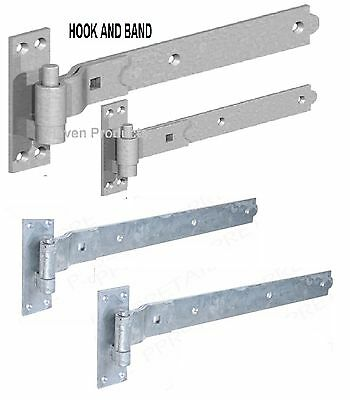 """12"""" Gate Hook And & Band Hinges - Heavy Duty Stable Garage Shed Barn Door"""