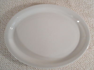 """INTER AMERICAN PORCELAIN - POLAND - 11 5/8"""" Solid White Oval Platter / Plate"""
