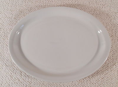 """RYKOFF SEXTON POLAND RESTAURANT WARE 11 5/8"""" Solid White Oval Platter / Plate"""