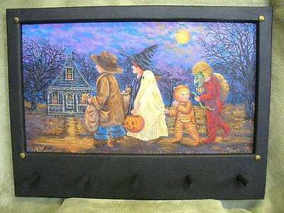 HP Antique inspired Halloween Painting Sylvia Dominguez Folk Art OOAK- New
