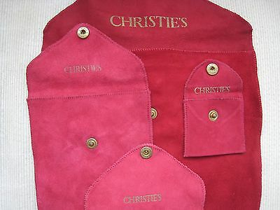 Red Jewelry Pouches, By Christies
