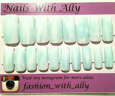 Hand painted acrylic press on nails