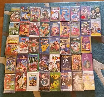 42 X VHS Children's Classics Huge Bulk Video Collection - GREAT CONDITION