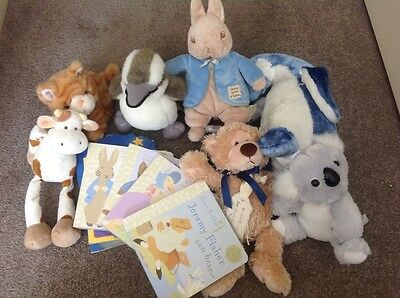 Baby books and soft toys
