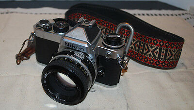 NIKON SLR CAMERA---WITH STRAP AND CASE---NIKKOR 50mm 1:1.8 #2001931-FOR CHARITY!