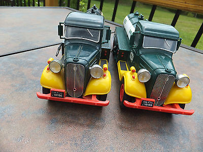 2 Vintage 1980 First Hess Truck Gasoline Tanker Truck Bank w/ RED Switch -Issues