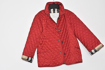 New Authentic Burberry Red Check Kids Boy Girl Coat Jacket 3Y