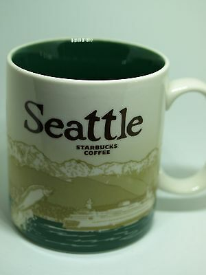 Starbucks Collectible Seattle Coffee Mug 2011 Iconic Images-V
