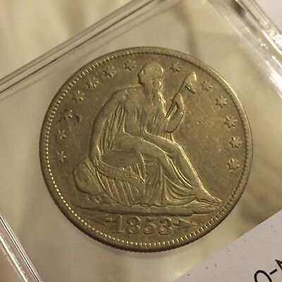 1853 Seated Half Dollar - XF!! - Arrows And Rays Nice Silver Type Coin!!!