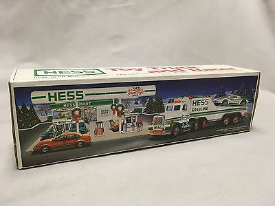 1991 Hess Toy Truck and racer with box