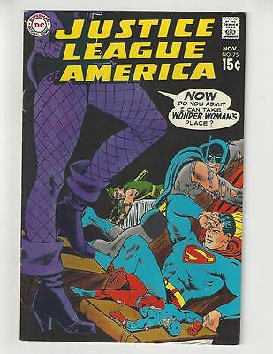 Justice League of America #75/DC Comic Book/1st Dinah Lance/VF-