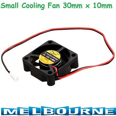 30mm x 10mm 12V Brushless Cooling Fan Reprap Prusa Mendel / Rostock / 3D Printer