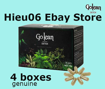 4 boxes Golean Detox Herbal Tea Help Weight Loss 100% Natural Tablets Go lean