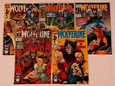 Marvel Wolverine Comic # 38 to # 42 1991 ! Lot of 5 Books Total !  VF-NM