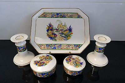 Falcon Ware Cottage Garden Dressing Table Set
