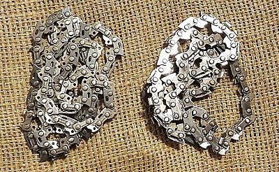 BLACKSMITH Cable Chainsaw Chain STEEL TOOL Knife Making Damascus 2 chains