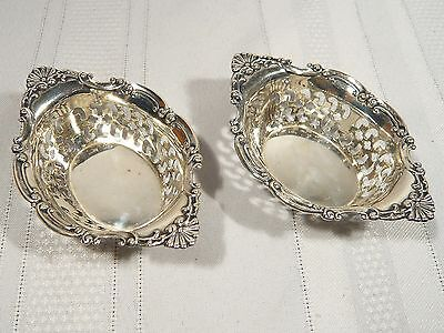 2 STERLING Silver BIRKS Nut Candy dishes (Gorham Cromwell pattern) Shell pierced