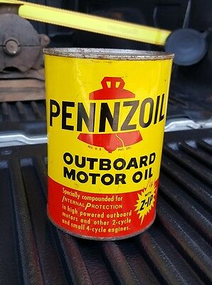 Pennzoil Outboard Motor Oil Can
