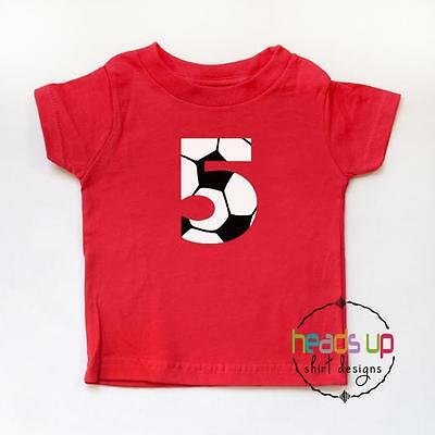 5th Birthday Shirt Boy or Girl Soccer Kids Five Bday tshirt Sports 5 Tee Trendy