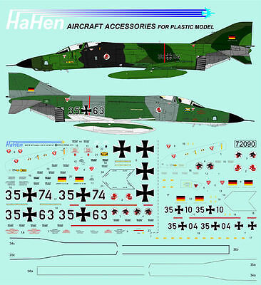 Decals 1:72 RF-4E in Norm 72/83