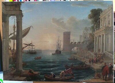 Claude Lorrain. The Embarkation Of The Queen Sheba (1648). Giclee Print.