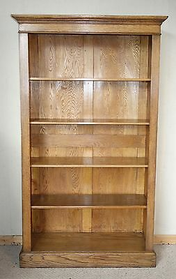 Large Open Oak Bookcase, c. 1920, nationwide delivery available