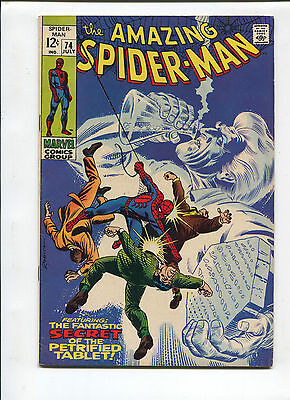 Marvel The Amazing Spiderman  #74  Very Fine Silver Age Comic 1960's